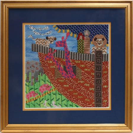 Needlepoint framing and other fabric framing at Austin Art & Frame ...