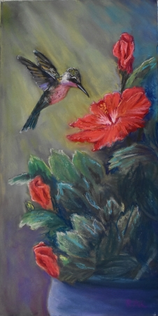 Hummer at Work by artist Rhodema Cargill