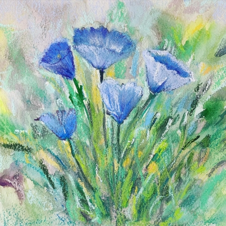 "BLUE BELLS by artist Emilie ""Addie"" Heath"